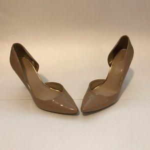 MERONA Tan Pointed Toe Slide Stiletto Pump Sandal